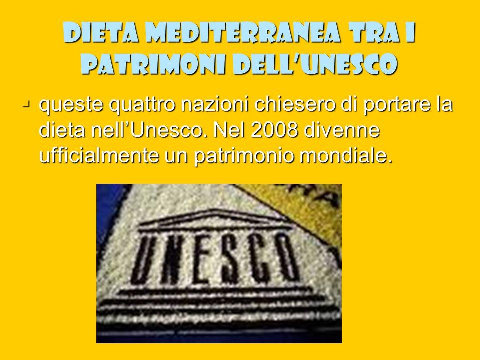 Dieta mediterranea tra i patrimoni dell'Unesco