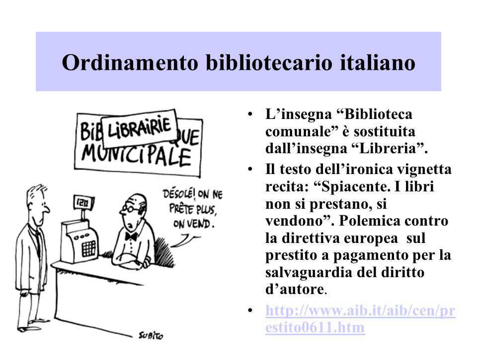 Ordinamento bibliotecario italiano