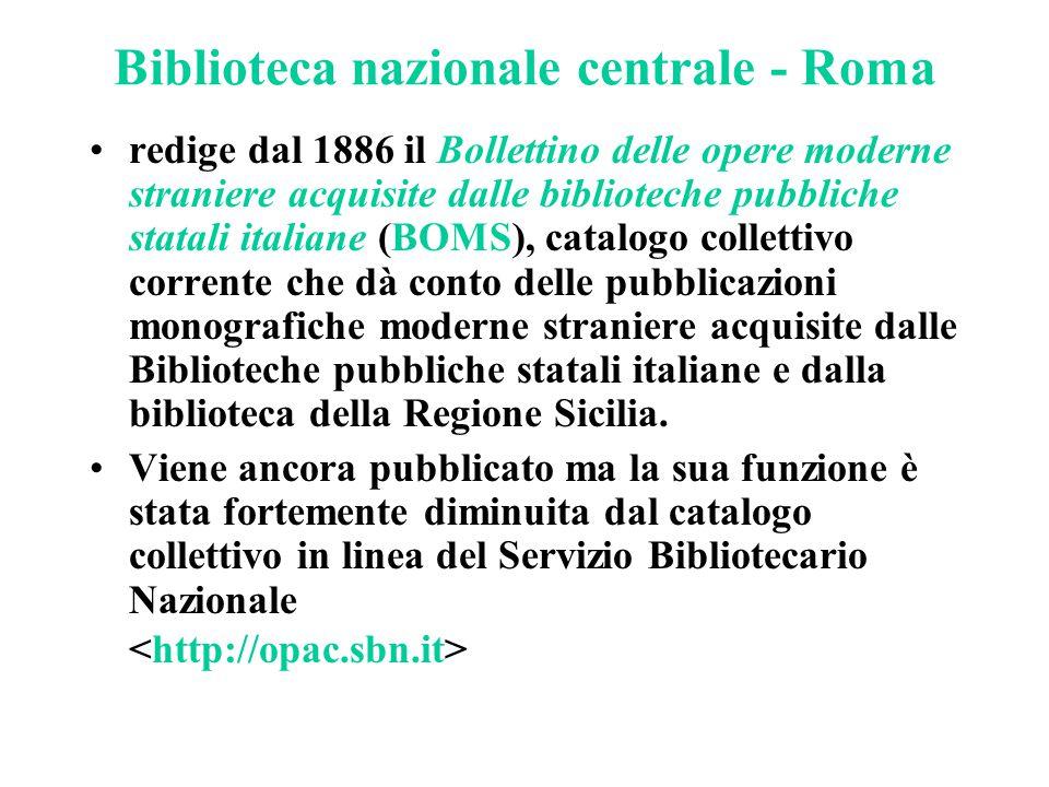 Biblioteca nazionale centrale - Roma