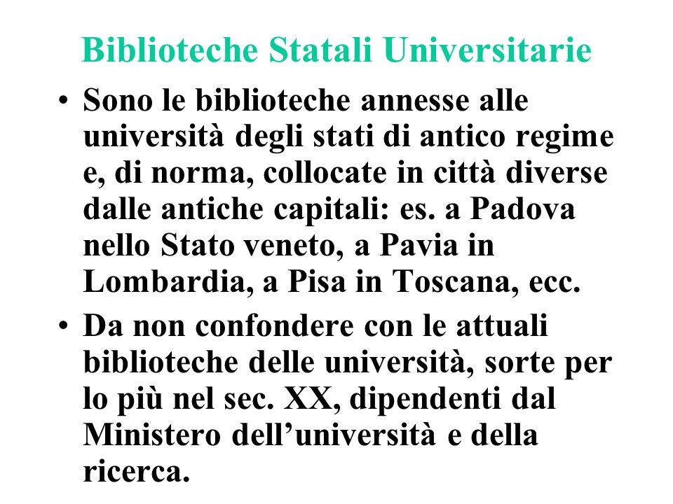 Biblioteche Statali Universitarie