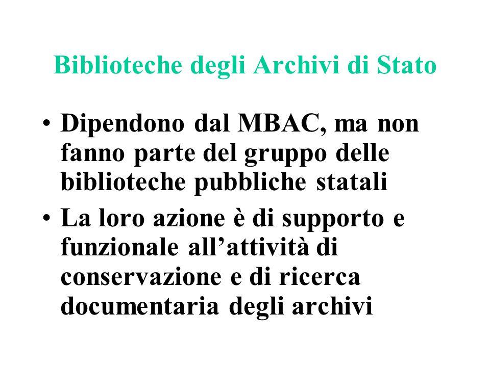 Biblioteche degli Archivi di Stato