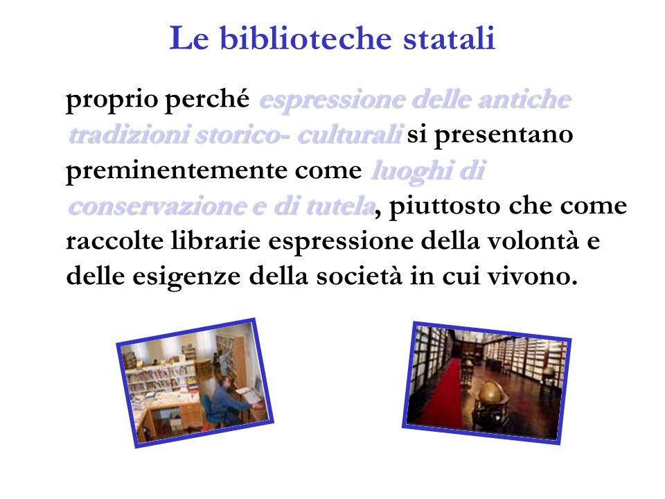 Le biblioteche statali