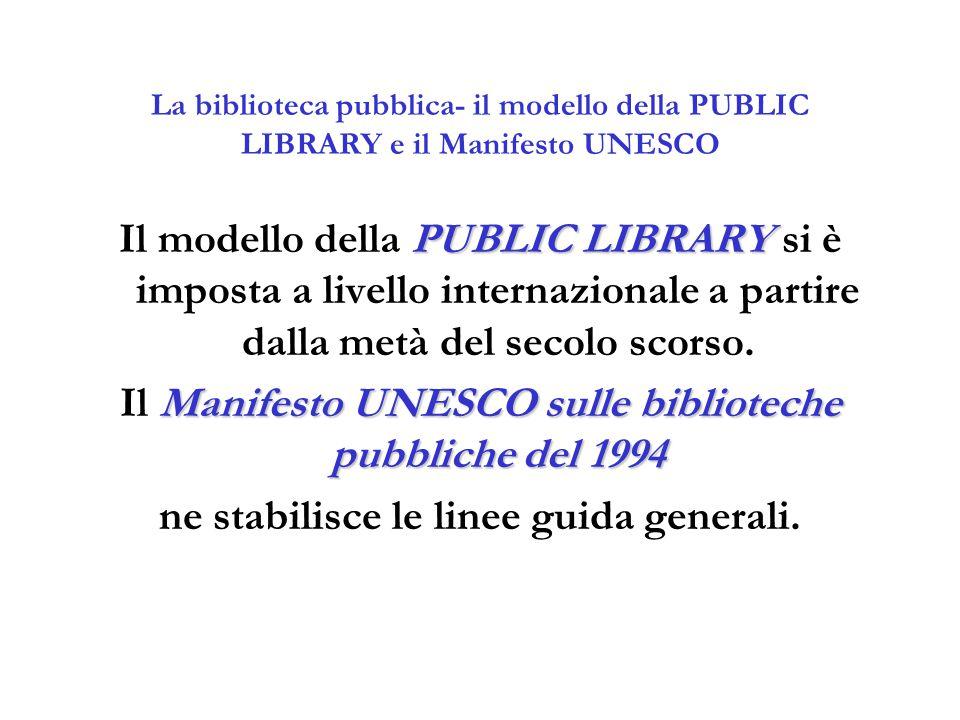 Il Manifesto UNESCO sulle biblioteche pubbliche del 1994