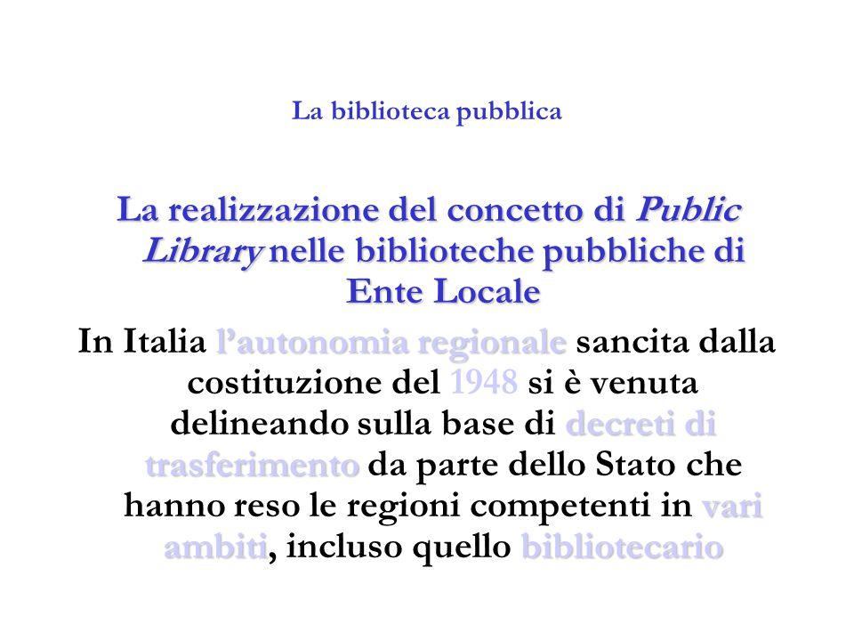 La biblioteca pubblica