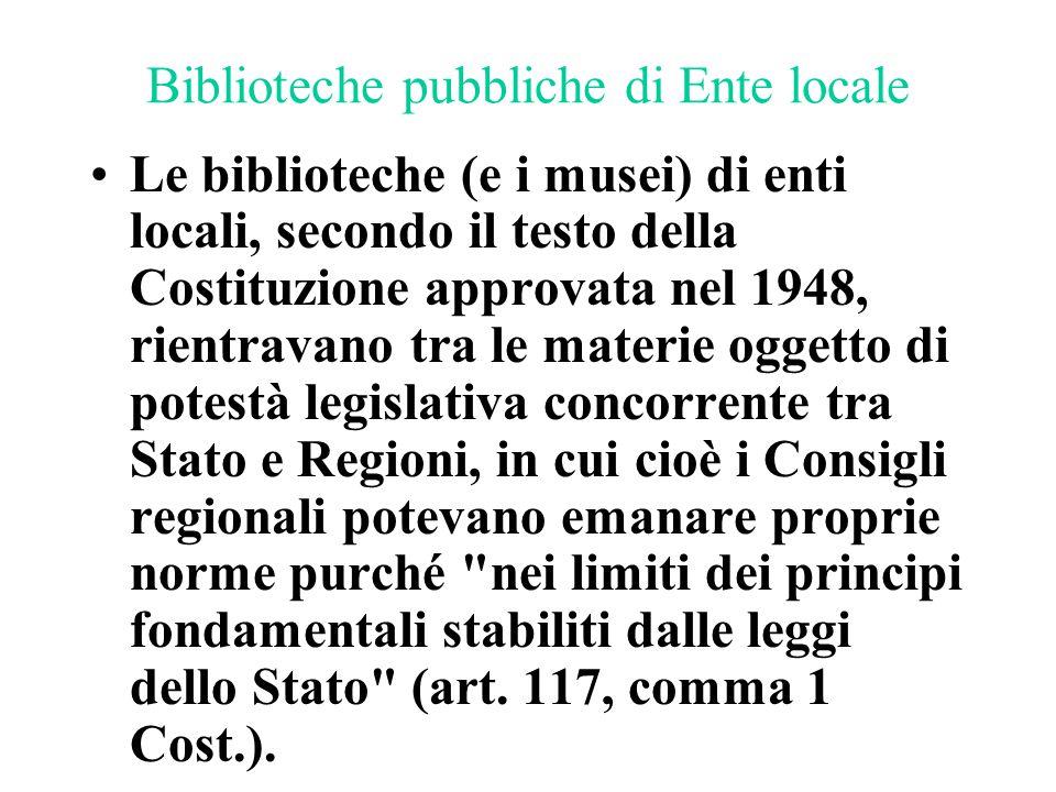 Biblioteche pubbliche di Ente locale