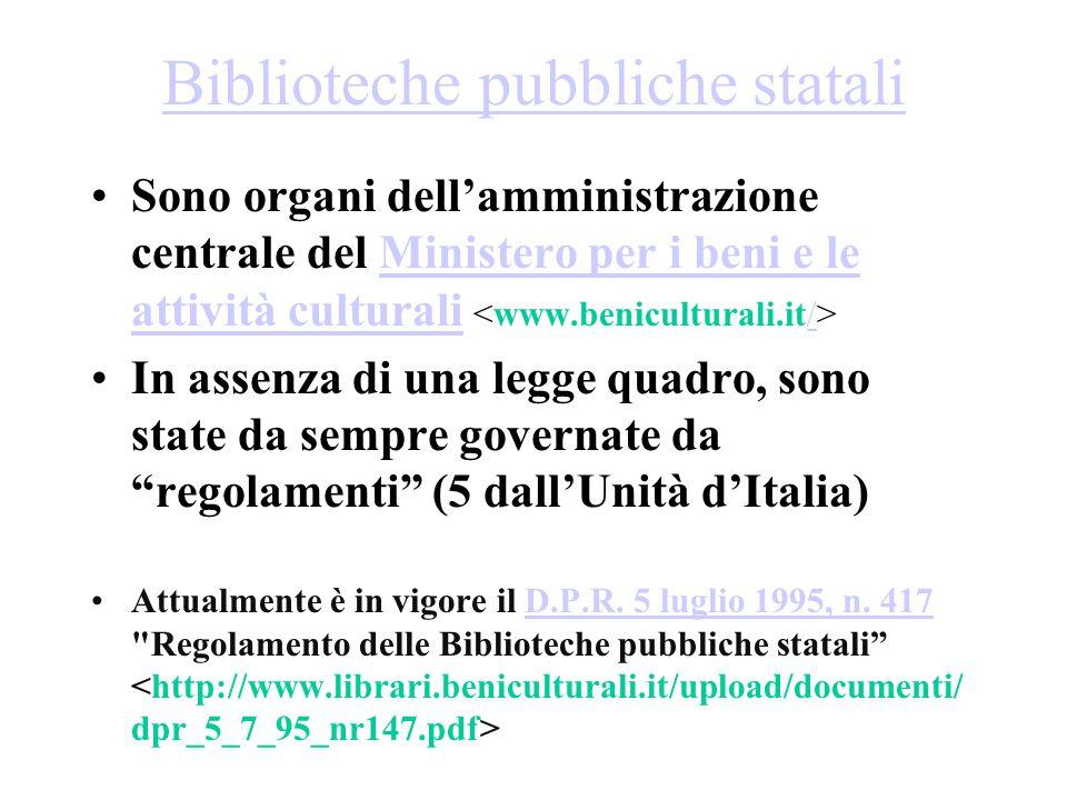 Biblioteche pubbliche statali