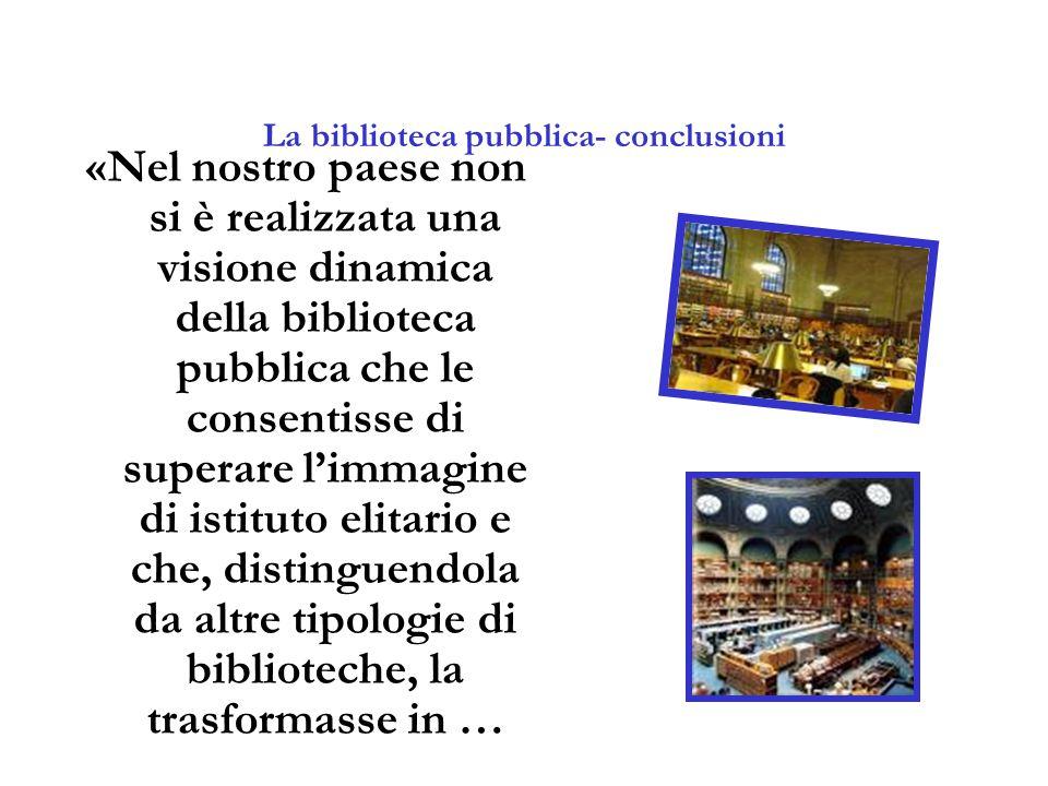 La biblioteca pubblica- conclusioni