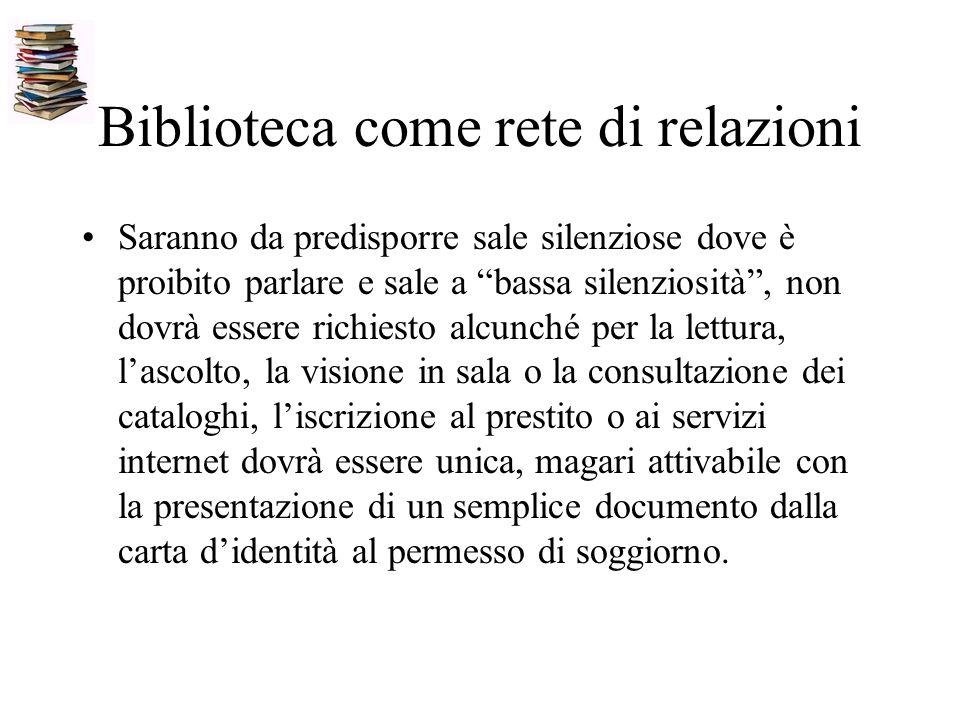 Biblioteca come rete di relazioni