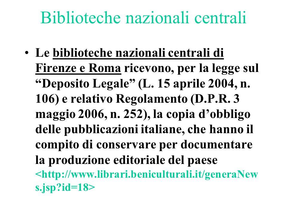 Biblioteche nazionali centrali