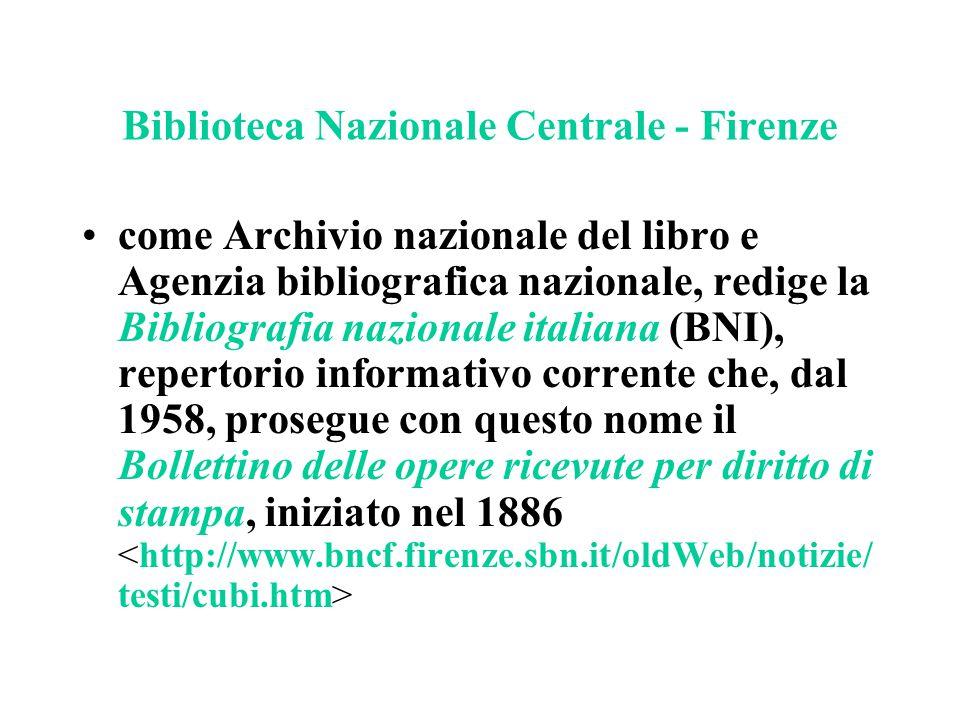 Biblioteca Nazionale Centrale - Firenze