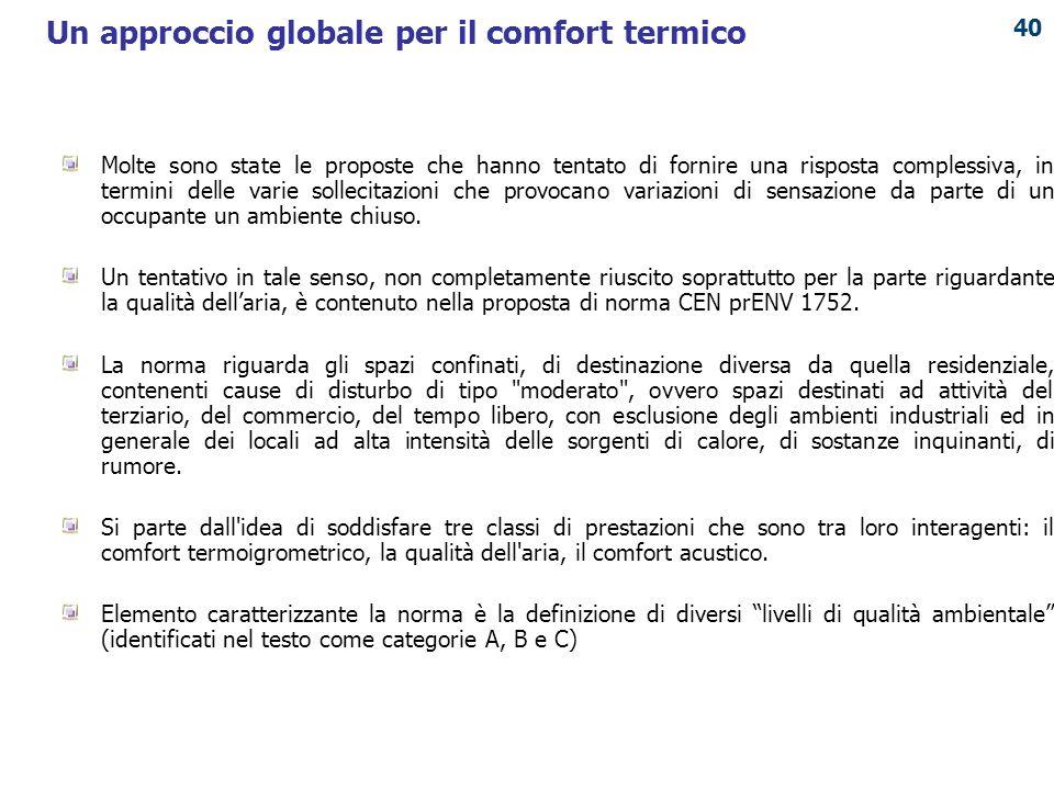Un approccio globale per il comfort termico
