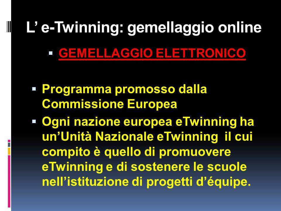 L' e-Twinning: gemellaggio online