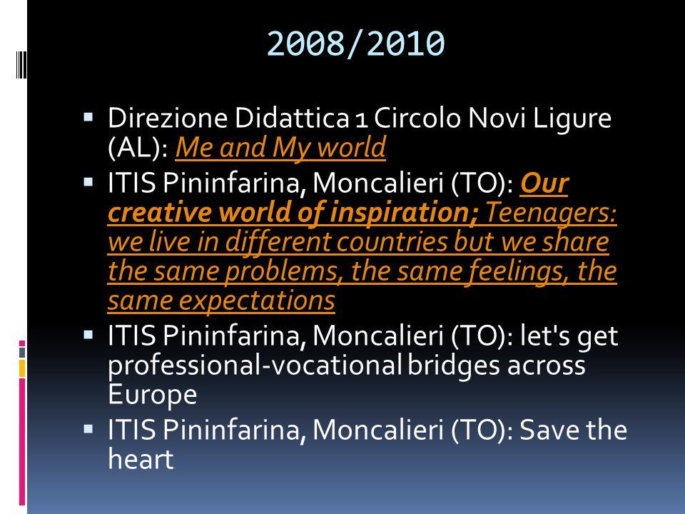 2008/2010 Direzione Didattica 1 Circolo Novi Ligure (AL): Me and My world.