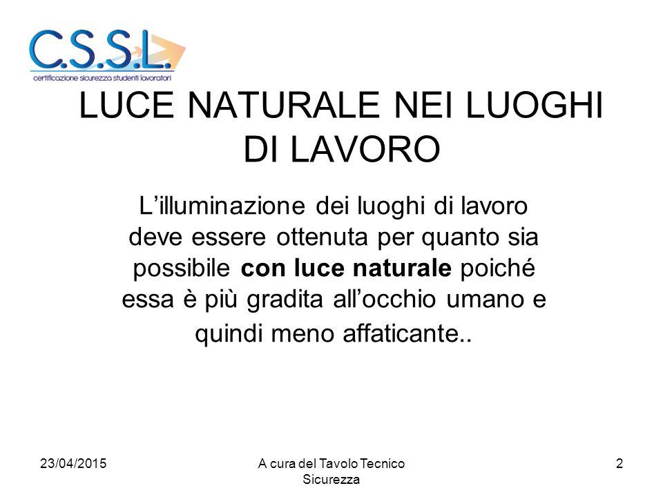 LUCE NATURALE NEI LUOGHI DI LAVORO