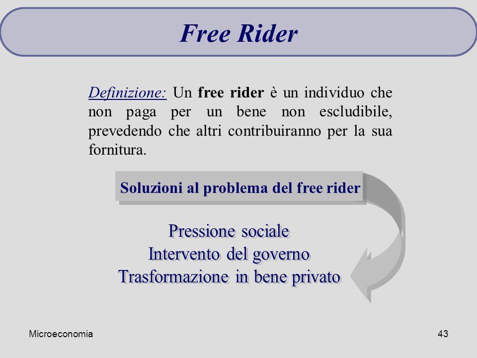 Soluzioni al problema del free rider
