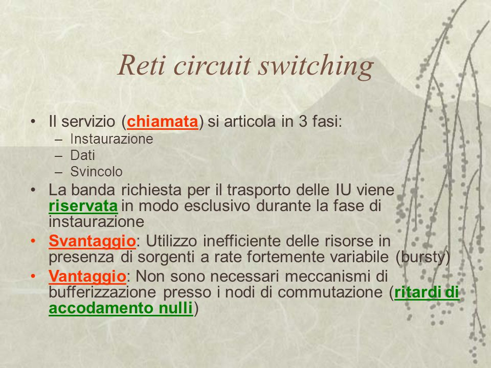 Reti circuit switching