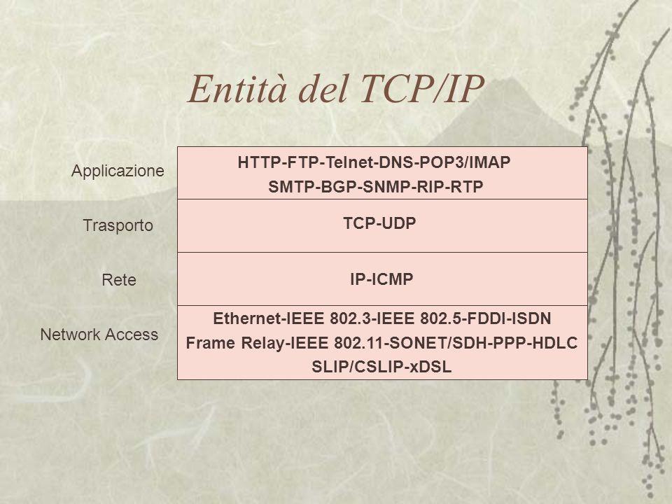 Entità del TCP/IP HTTP-FTP-Telnet-DNS-POP3/IMAP Applicazione