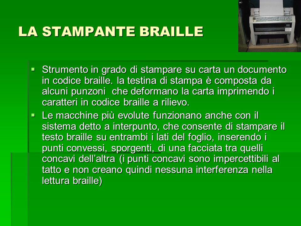 LA STAMPANTE BRAILLE