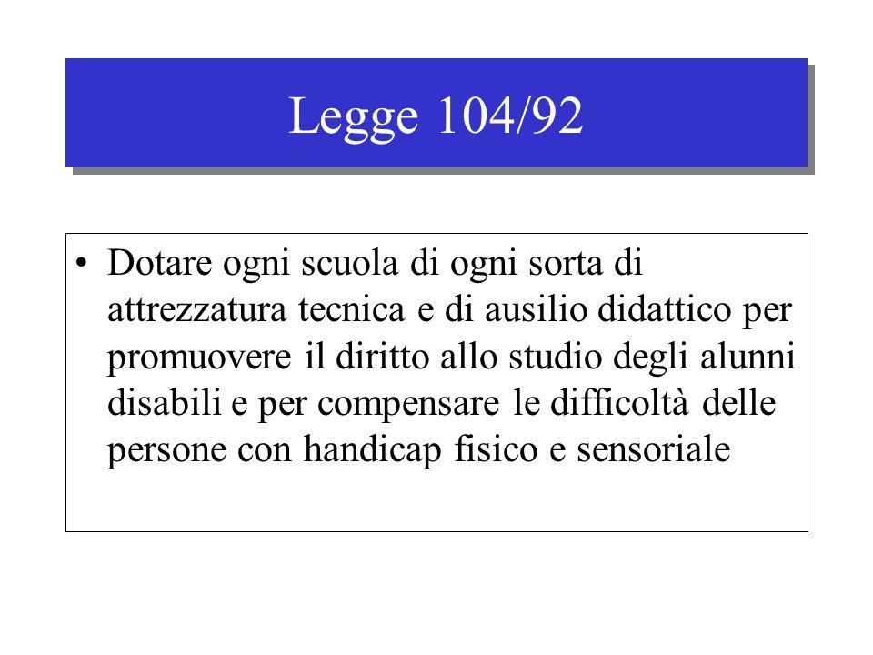 Legge 104/92