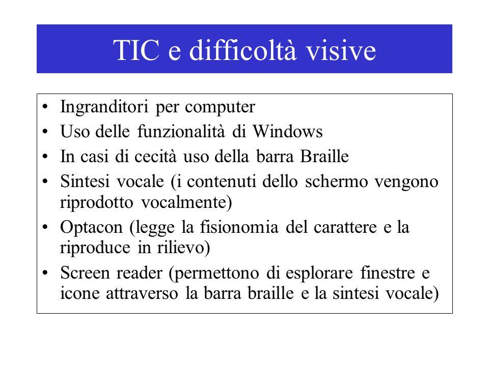 TIC e difficoltà visive