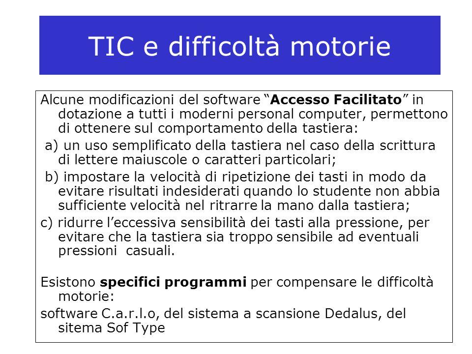 TIC e difficoltà motorie