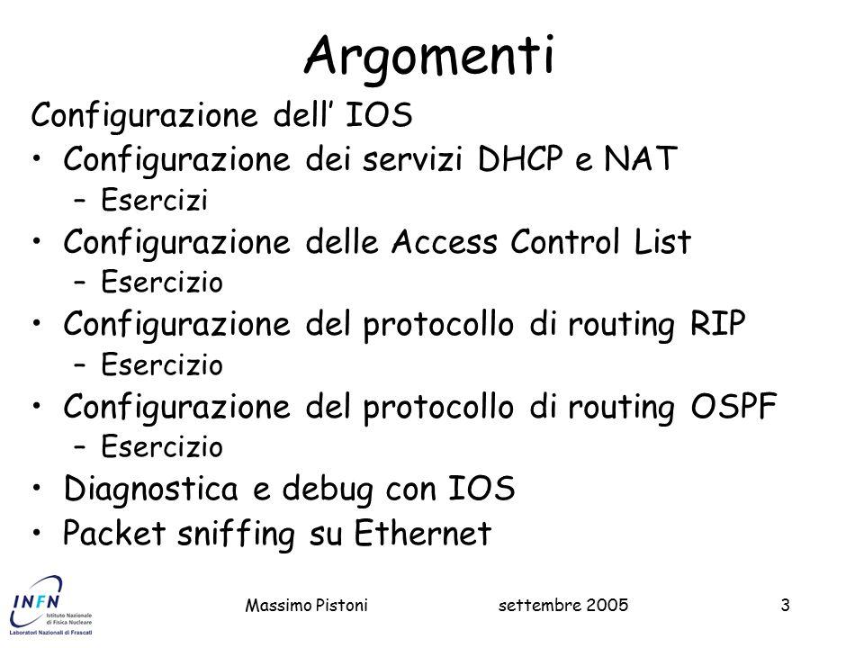 Argomenti Configurazione dell' IOS