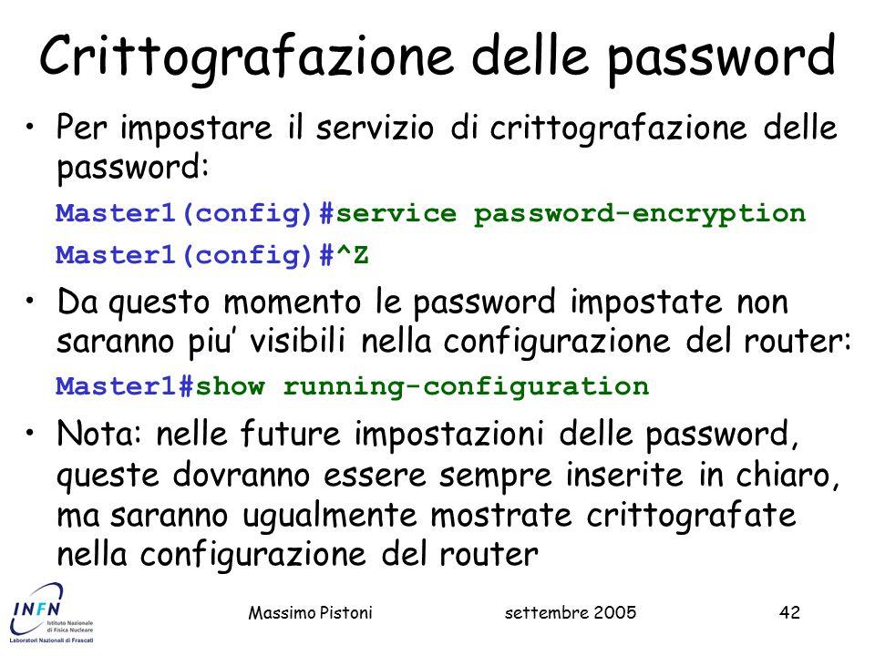 Crittografazione delle password