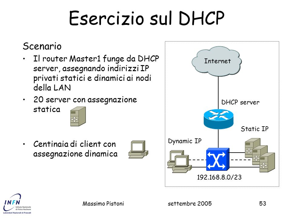 Esercizio sul DHCP Scenario