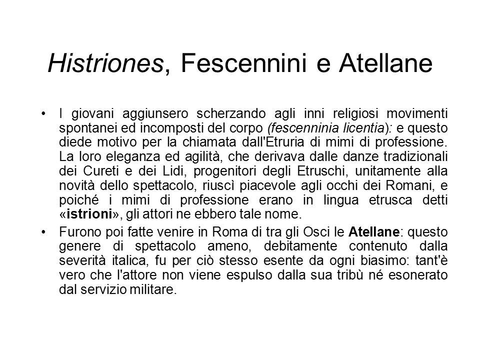 Histriones, Fescennini e Atellane