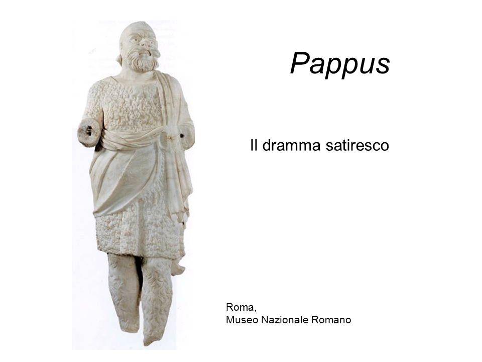 Pappus Il dramma satiresco Roma, Museo Nazionale Romano