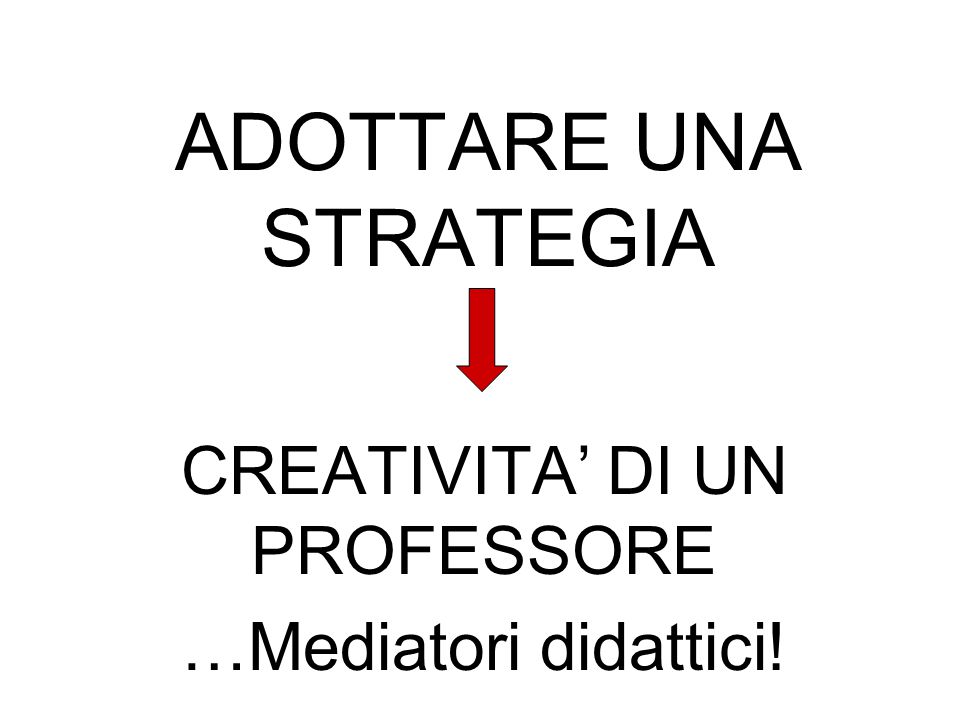 ADOTTARE UNA STRATEGIA