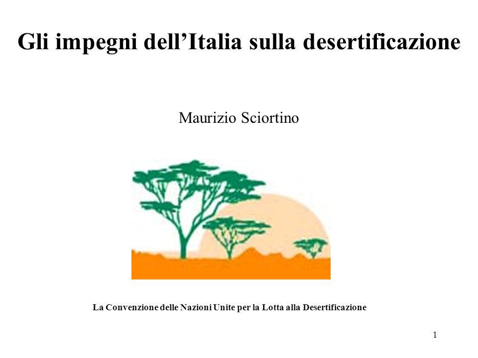 Gli impegni dell'Italia sulla desertificazione
