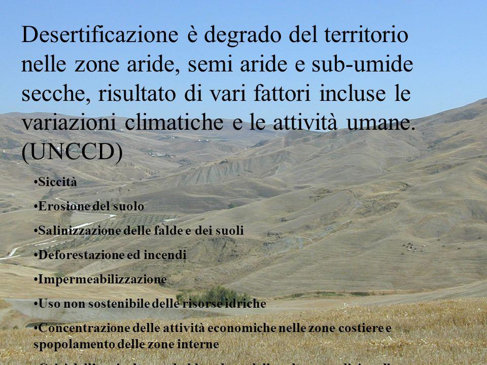 Che cosa è la desertificazione