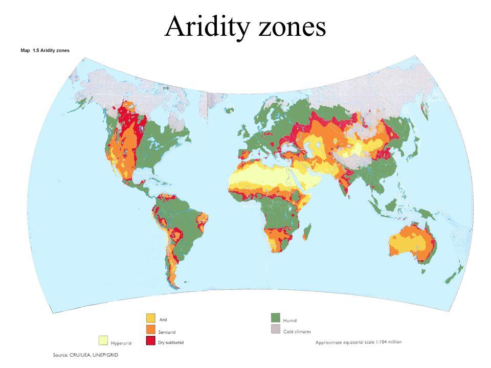Aridity zones