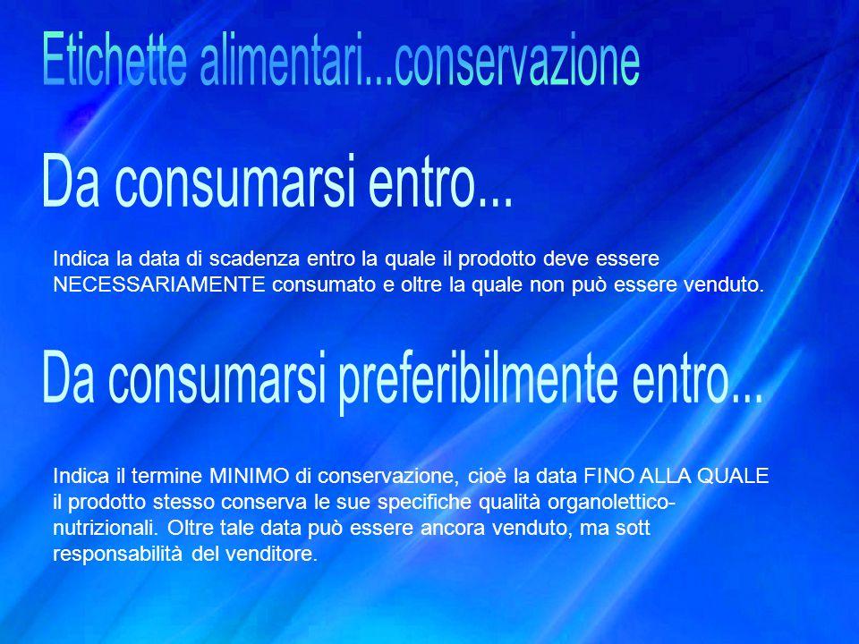 Etichette alimentari...conservazione