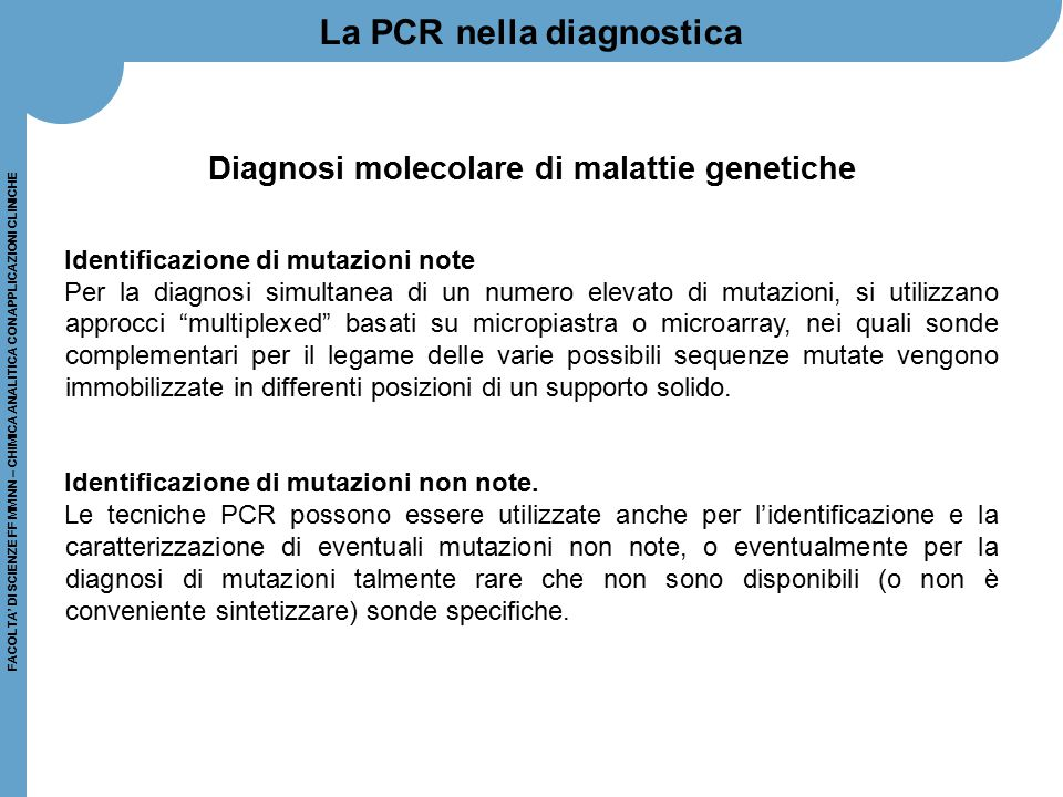 Diagnosi molecolare di malattie genetiche