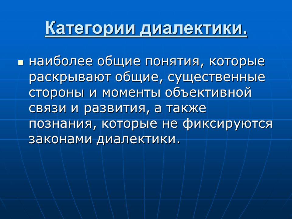 Категории диалектики.