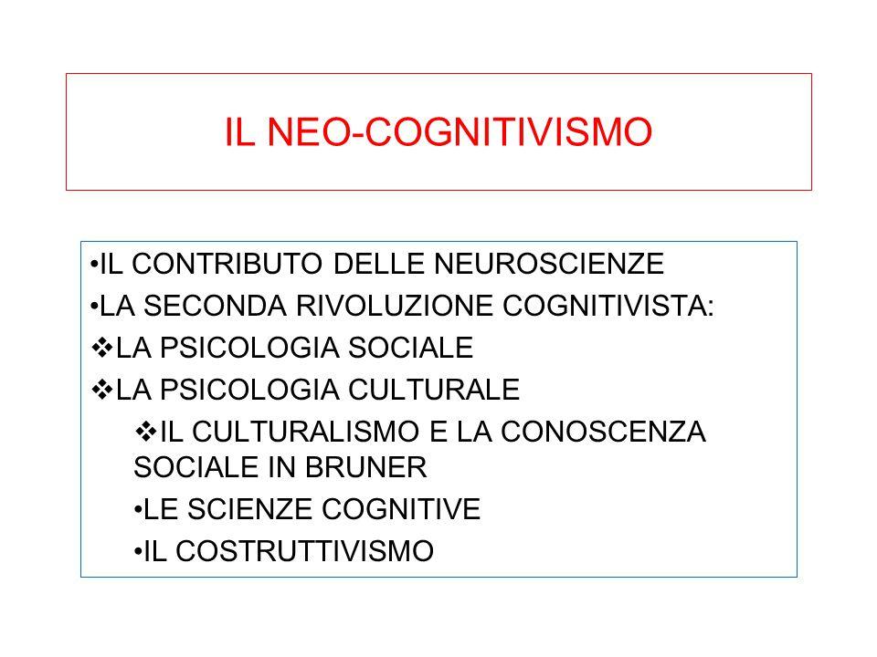 IL NEO-COGNITIVISMO IL CONTRIBUTO DELLE NEUROSCIENZE