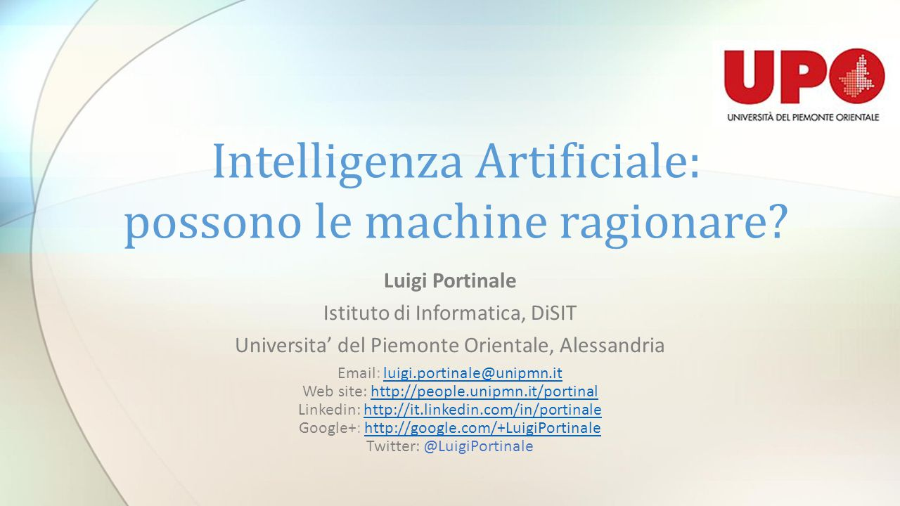 Intelligenza Artificiale: possono le machine ragionare