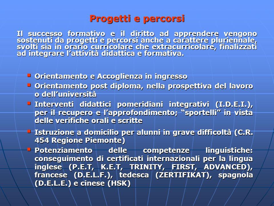 Progetti e percorsi