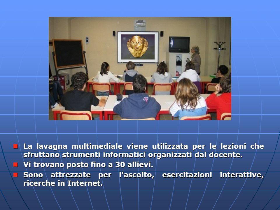 Aule LIM La lavagna multimediale viene utilizzata per le lezioni che sfruttano strumenti informatici organizzati dal docente.