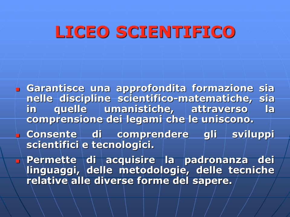 LICEO SCIENTIFICO