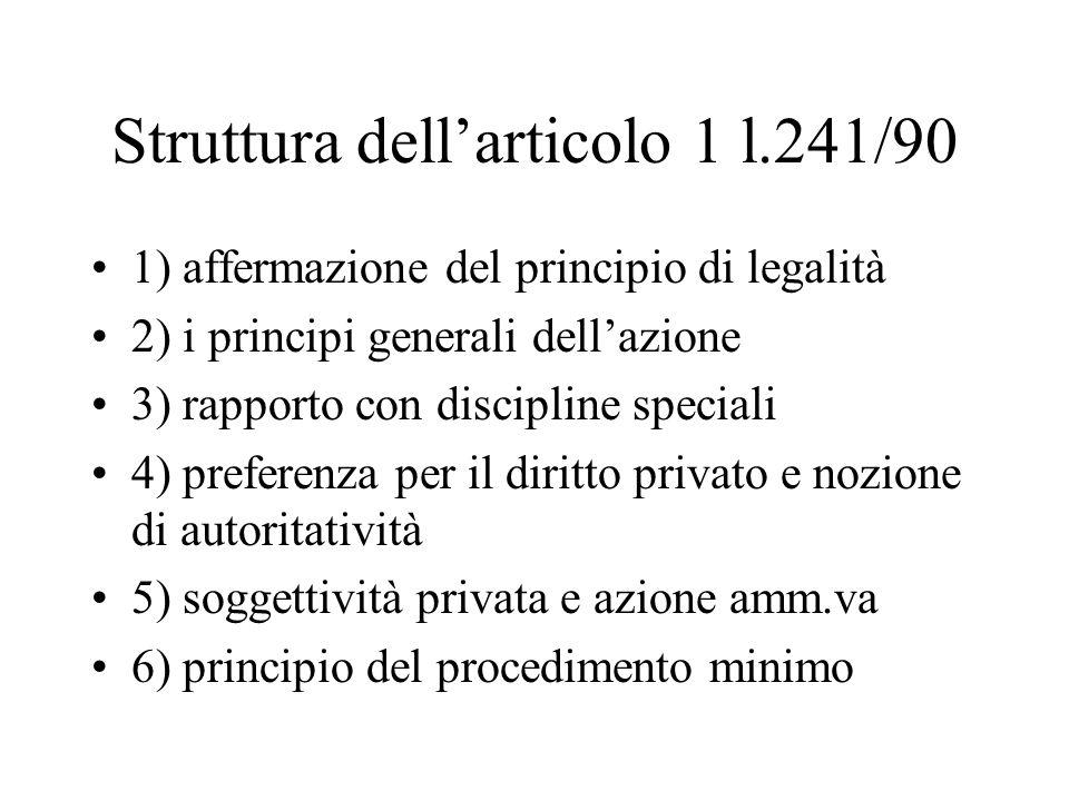 Struttura dell'articolo 1 l.241/90
