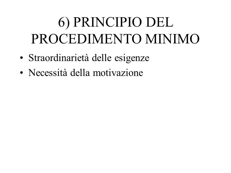 6) PRINCIPIO DEL PROCEDIMENTO MINIMO