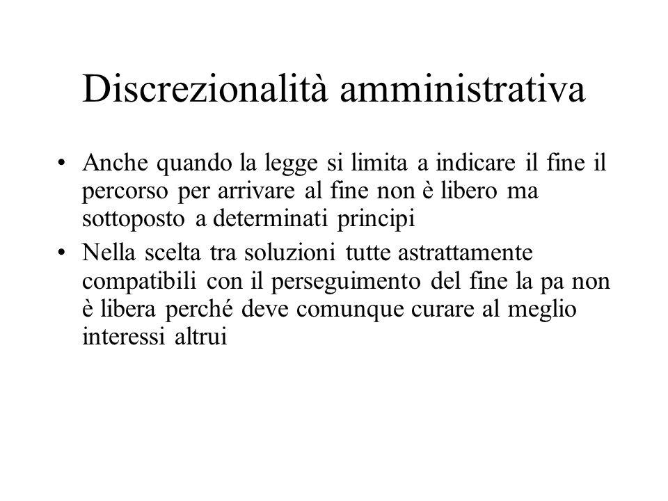 Discrezionalità amministrativa