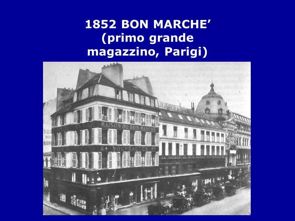 1852 BON MARCHE' (primo grande magazzino, Parigi)