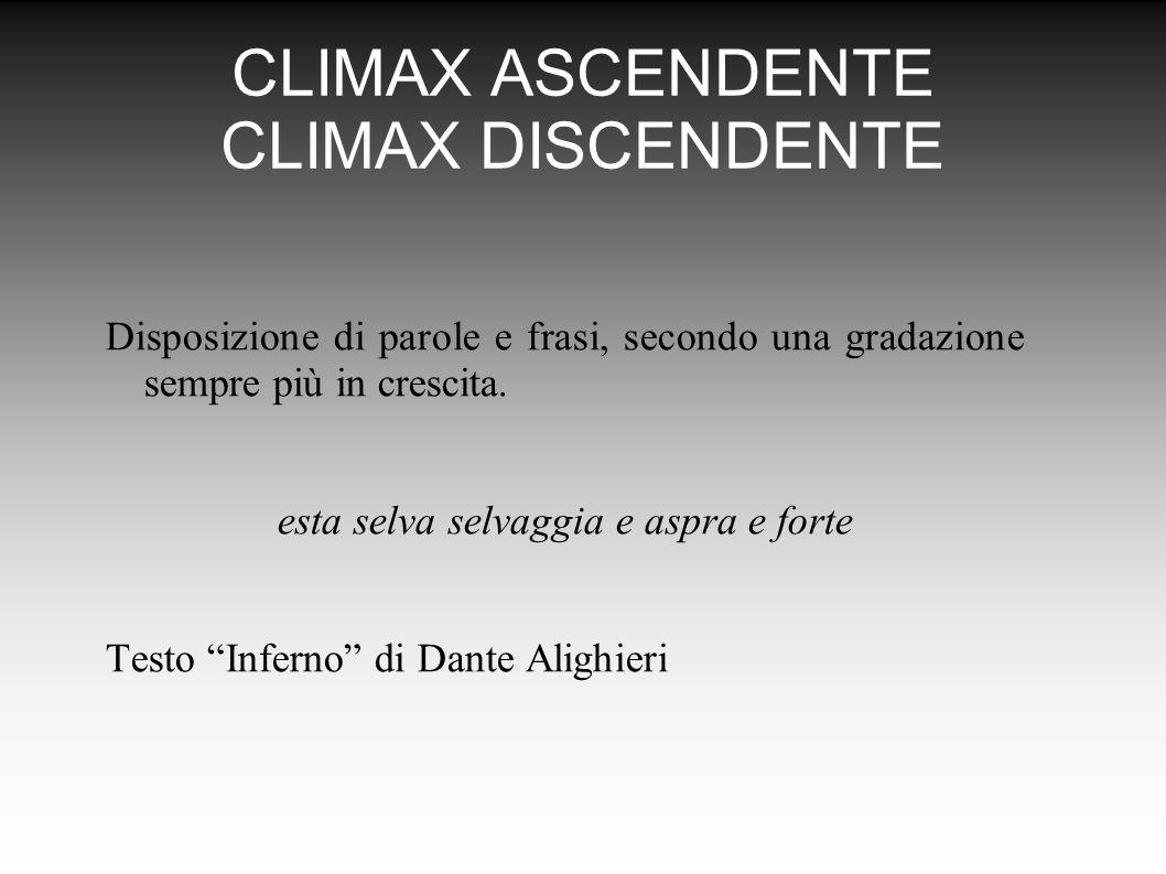 CLIMAX ASCENDENTE CLIMAX DISCENDENTE