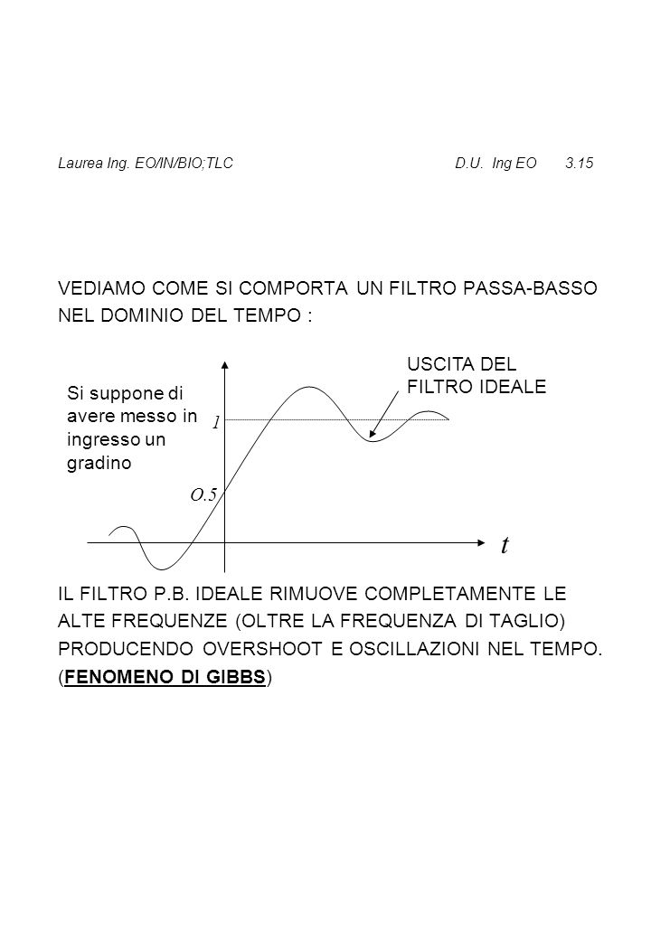 Laurea Ing. EO/IN/BIO;TLC D.U. Ing EO 3.15
