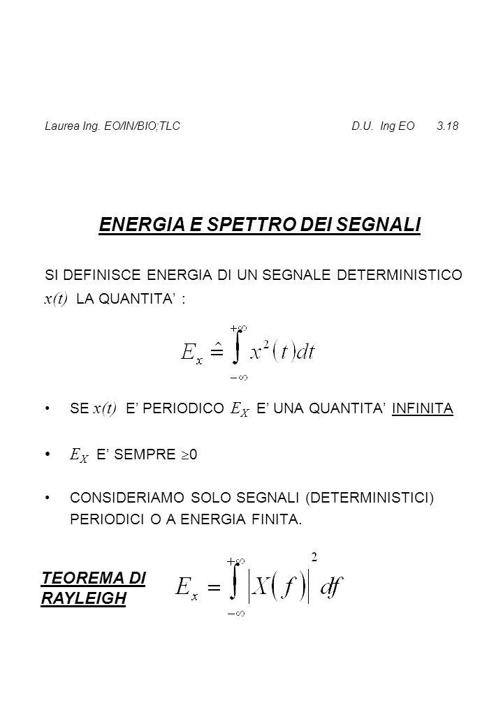 Laurea Ing. EO/IN/BIO;TLC D.U. Ing EO 3.18
