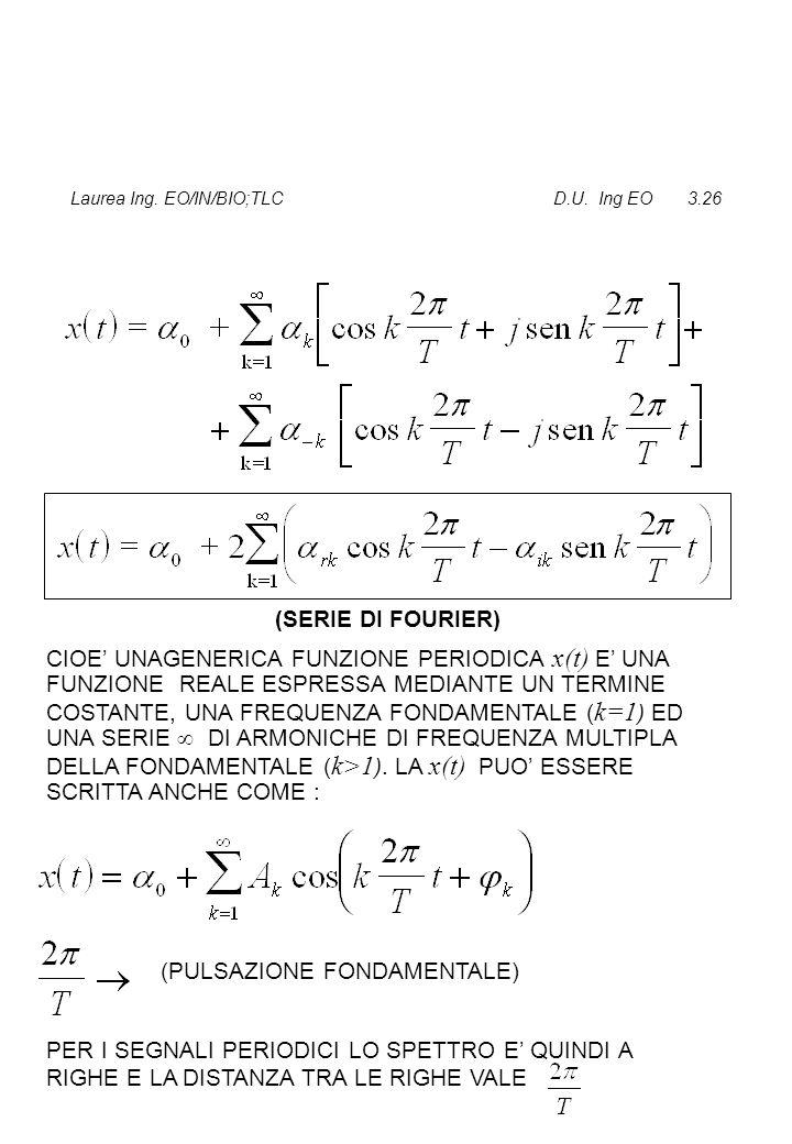 Laurea Ing. EO/IN/BIO;TLC D.U. Ing EO 3.26